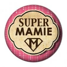 """Cabochon en Résine à Coller """"Super Mamie"""" 25mm"""