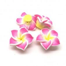 4 Perles Fleurs en Pâte Polymère Fimo 20mm pour la Création de Bijoux Fantaisie - DIY