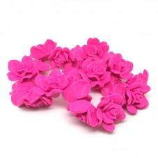 20 Perles Fleurs Fuchsia en Pâte Polymère Fimo 30mm pour la Création de Bijoux Fantaisie - DIY