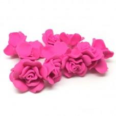 14 Perles Fleurs Fuchsia en Pâte Polymère Fimo 40mm pour la Création de Bijoux Fantaisie - DIY