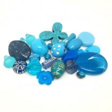 20 Perles Mixtes en Acrylique Turquoise 5-28mm pour la Création de Bijoux Fantaisie - DIY