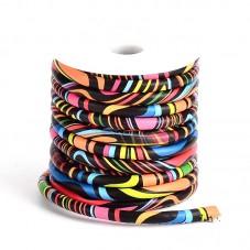 1 Mètre de Cordon Cuir Véritable Multicolore 6mm pour la Création de Bijoux Fantaisie