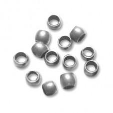 Environ 300 Perles à Écraser Platine 2mm Sachet de 5grs pour la Création de Bijoux Fantaisie - DIY