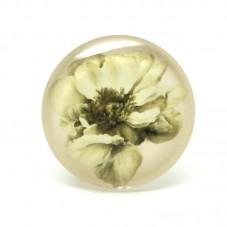 Cabochon en Verre Illustré Fleur Vintage 20mm pour la Création de Bijoux Fantaisie - DIY