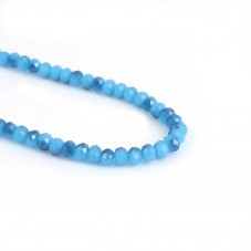 148 Perles en Verre à Facettes Bleues 3x4mm pour la Création de Bijoux Fantaisie - DIY