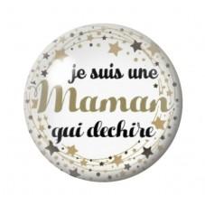 Cabochon en Verre Illustré Maman qui Déchire 12 à 25mm pour la Création de Bijoux Fantaisie - DIY