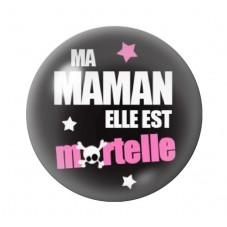 Cabochon en Verre Illustré Maman Mortelle 12 à 25mm pour la Création de Bijoux Fantaisie - DIY