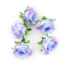 2 Têtes de Fleur Rose Mauve 3-4cm