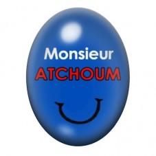 Cabochon en Verre Illustré Monsieur Atchoum 13x18 ou 18x25mm pour la Création de Bijoux Fantaisie - DIY