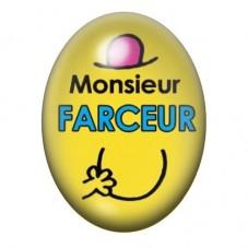 Cabochon en Verre Illustré Monsieur Farceur 13x18 ou 18x25mm pour la Création de Bijoux Fantaisie - DIY