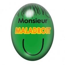 Cabochon en Verre Illustré Monsieur Maladroit 13x18 ou 18x25mm pour la Création de Bijoux Fantaisie - DIY