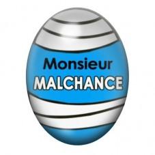 Cabochon en Verre Illustré Monsieur Malchance 13x18 ou 18x25mm pour la Création de Bijoux Fantaisie - DIY
