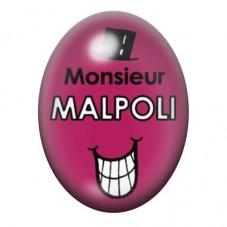 Cabochon en Verre Illustré Monsieur Malpoli 13x18 ou 18x25mm pour la Création de Bijoux Fantaisie - DIY