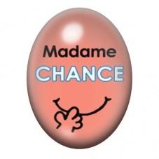 Cabochon en Verre Illustré Madame Chance 13x18 ou 18x25mm pour la Création de Bijoux Fantaisie - DIY