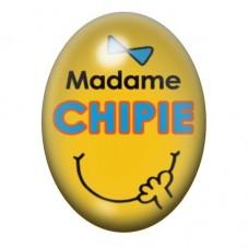 Cabochon en Verre Illustré Madame Chipie 13x18 ou 18x25mm pour la Création de Bijoux Fantaisie - DIY