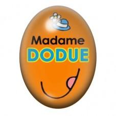 Cabochon en Verre Illustré Madame Dodue 13x18 ou 18x25mm pour la Création de Bijoux Fantaisie - DIY