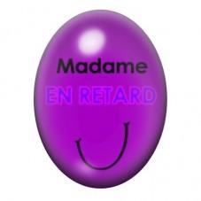 Cabochon en Verre Illustré Madame en Retard 13x18 ou 18x25mm pour la Création de Bijoux Fantaisie - DIY