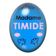 Cabochon en Verre Illustré Madame Timide 13x18 ou 18x25mm pour la Création de Bijoux Fantaisie - DIY