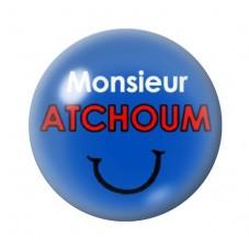 Cabochon en Verre Illustré Monsieur Atchoum 12 à 25mm pour la Création de Bijoux Fantaisie - DIY