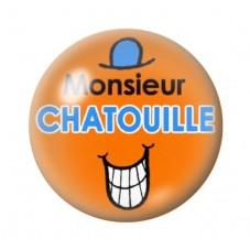 Cabochon en Verre Illustré Monsieur Chatouille 12 à 25mm pour la Création de Bijoux Fantaisie - DIY