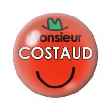 Cabochon en Verre Illustré Monsieur Costaud 12 à 25mm pour la Création de Bijoux Fantaisie - DIY