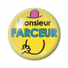 Cabochon en Verre Illustré Monsieur Farceur 12 à 25mm pour la Création de Bijoux Fantaisie - DIY