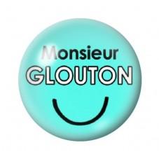 Cabochon en Verre Illustré Monsieur Glouton 12 à 25mm pour la Création de Bijoux Fantaisie - DIY