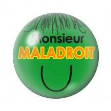 Cabochon en Verre Illustré Monsieur Maladroit 12 à 25mm pour la Création de Bijoux Fantaisie - DIY