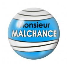 Cabochon en Verre Illustré Monsieur Malchance 12 à 25mm pour la Création de Bijoux Fantaisie - DIY