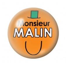 Cabochon en Verre Illustré Monsieur Malin 12 à 25mm pour la Création de Bijoux Fantaisie - DIY