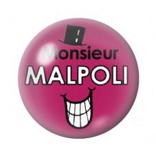 Cabochon en Verre Illustré Monsieur Malpoli 12 à 25mm pour la Création de Bijoux Fantaisie - DIY