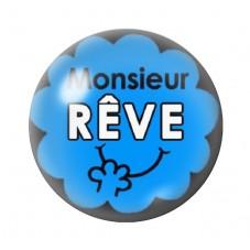 Cabochon en Verre Illustré Monsieur Rêve 12 à 25mm pour la Création de Bijoux Fantaisie - DIY