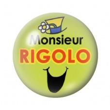 Cabochon en Verre Illustré Monsieur Rigolo 12 à 25mm pour la Création de Bijoux Fantaisie - DIY