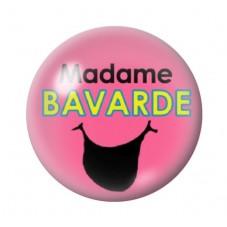 Cabochon en Verre Illustré Madame Bavarde  12 à 25mm pour la Création de Bijoux Fantaisie - DIY