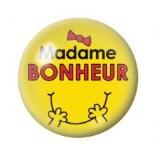 Cabochon en Verre Illustré Madame Bonheur 12 à 25mm pour la Création de Bijoux Fantaisie - DIY