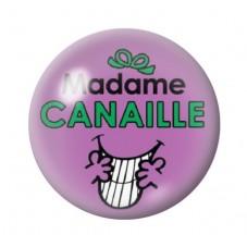 Cabochon en Verre Illustré Madame Canaille 12 à 25mm pour la Création de Bijoux Fantaisie - DIY
