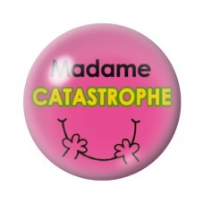 Cabochon en Verre Illustré Madame Catastrophe 12 à 25mm pour la Création de Bijoux Fantaisie - DIY