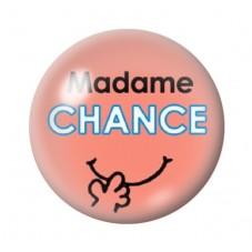 Cabochon en Verre Illustré Madame Chance 12 à 25mm pour la Création de Bijoux Fantaisie - DIY