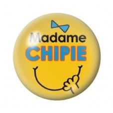 Cabochon en Verre Illustré Madame Chipie 12 à 25mm pour la Création de Bijoux Fantaisie - DIY