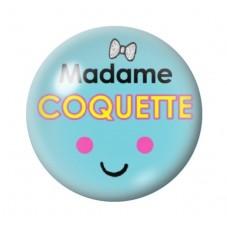 Cabochon en Verre Illustré Madame Coquette 12 à 25mm pour la Création de Bijoux Fantaisie - DIY