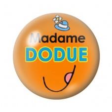 Cabochon en Verre Illustré Madame Dodue 12 à 25mm pour la Création de Bijoux Fantaisie - DIY