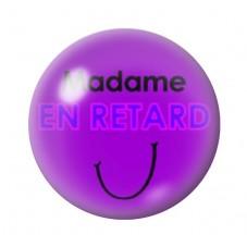 Cabochon en Verre Illustré Madame en Retard 12 à 25mm pour la Création de Bijoux Fantaisie - DIY