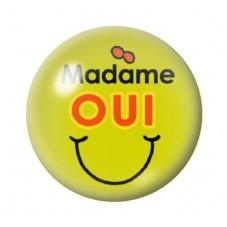 Cabochon en Verre Illustré Madame Oui 12 à 25mm pour la Création de Bijoux Fantaisie - DIY