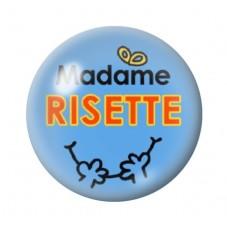 Cabochon en Verre Illustré Madame Risette 12 à 25mm pour la Création de Bijoux Fantaisie - DIY