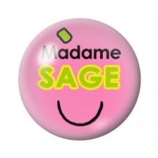 Cabochon en Verre Illustré Madame Sage 12 à 25mm pour la Création de Bijoux Fantaisie - DIY