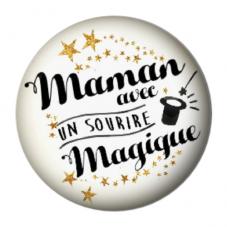 """Cabochon en Résine à Coller """"Maman Magique"""" 25mm pour la Création de Bijoux Fantaisie - DIY"""