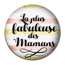 """Cabochon en Résine à Coller """"Fabuleuse Maman"""" 25mm pour la Création de Bijoux Fantaisie - DIY"""