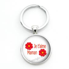 """Porte-clé """"Je t'aime Maman"""" Cadeau Fête des Mères"""