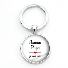 """Porte-clé """"Je t'aime Maman"""" Cadeau Fête des Mères pour la Création de Bijoux Fantaisie - DIY"""