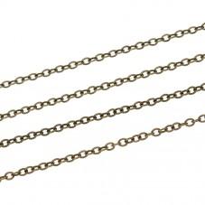5 Mètres de Chaîne Fine à Mailles Bronze 2x1,5mm pour la Création de Bijoux Fantaisie - DIY